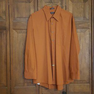 Arrow Burnt Orange Button Down Dress Shirt XXLg